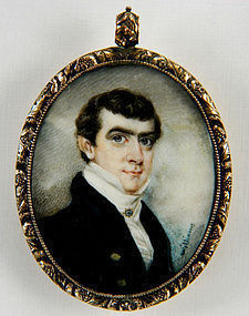 Henry Williams Portrait Miniature on Ivory  c1825