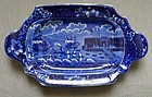 Rare Landing of Lafayette Historical Staffordshire Tray c1830