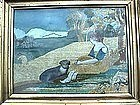 Needlework Picture; c 1810
