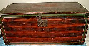 Superb South Paris, ME Paint Decorated Chest  c1830