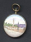 Charming French Enameled Coin Purse; c 1870