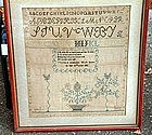 Pennsylvania Quaker Sampler    c1826